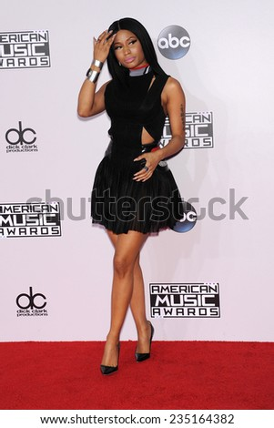 LOS ANGELES - NOV 23:  Nicki Minaj arrives to the 2014 American Music Awards on November 23, 2014 in Los Angeles, CA                 - stock photo