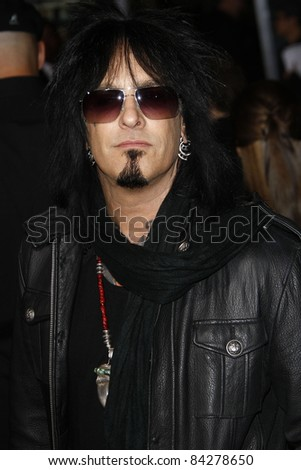 LOS ANGELES - NOV 22: Nikki Sixx at the Premiere of 'Faster' held at Grauman's Chinese Theater in Los Angeles, California on November 22, 2010