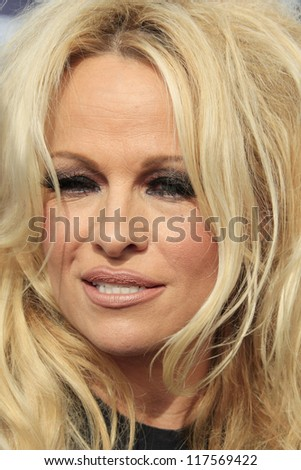 LOS ANGELES - NOV 2: Pamela Anderson at the Sea Shepard's Operation Zero Tolerance Antarctic whale defense campaign press conference launch at Fisherman's Village on November 2, 2012 in Los Angeles,CA - stock photo
