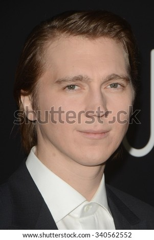 """LOS ANGELES - NOV 17:  Paul Dano at the """"Youth"""" LA Premiere at the Directors Guild of America Theater on November 17, 2015 in Los Angeles, CA - stock photo"""