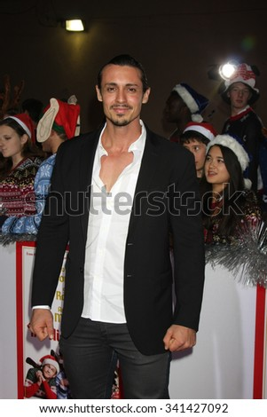 "LOS ANGELES - NOV 17:  Peter Madrigal at the ""The Night Before"" LA Premiere at the The Theatre at The ACE Hotel on November 17, 2015 in Los Angeles, CA"
