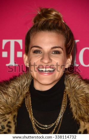 LOS ANGELES - NOV 10:  Rachel McCord at the T-Mobile Un-carrier X Launch Celebration at the Shrine Auditorium on November 10, 2015 in Los Angeles, CA - stock photo