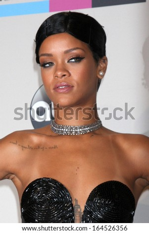 LOS ANGELES - NOV 24:  Rihanna at the 2013 American Music Awards Press Room at Nokia Theater on November 24, 2013 in Los Angeles, CA - stock photo
