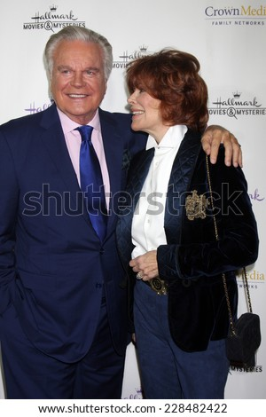 "LOS ANGELES - NOV 4:  Robert Wagner, Jill St. John at the Hallmark Channel's ""Northpole"" Screening Reception at the  La Piazza Restaurant  at The Grove on November 4, 2014 in Los Angeles, CA"