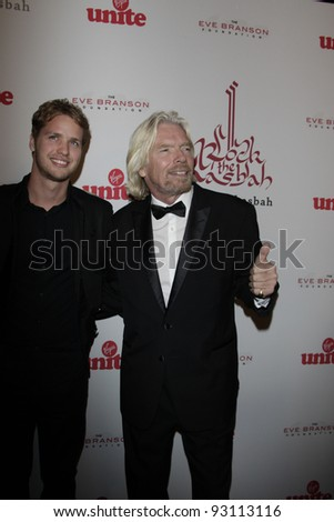 LOS ANGELES - NOV 16: Sam Branson; Richard Branson at the 5th annual 'Rock the Kasbah' in support of Virgin Unite and the Eve Branson Foundation on November 16, 2011 in Los Angeles, California