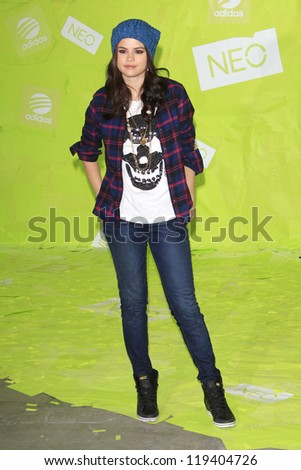 LOS ANGELES - NOV 20: Selena Gomez at the Adidas NEO news conference where Selena Gomez is signed on as the new style icon and designer on November 20, 2012 in Los Angeles, California - stock photo