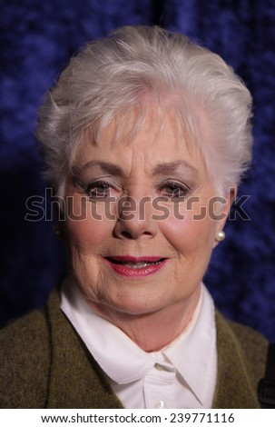 """LOS ANGELES - NOV 22:  SHIRLEY JONES arrives to the """"Super 8"""" DVD Launch  on November 22, 2011 in Beverly Hills, CA                 - stock photo"""