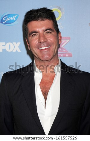 "LOS ANGELES - NOV 4:  Simon Cowell at the 2013 ""X Factor"" Top 12 Party  at SLS Hotel on November 4, 2013 in Beverly Hills, CA - stock photo"