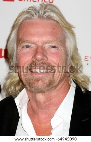 LOS ANGELES - NOV 10:  Sir Richard Branson arrives at the Rock the Kabash Gala 2010 at Dorothy Chandler Pavilion  on November 10, 2010 in Los Angeles, CA - stock photo