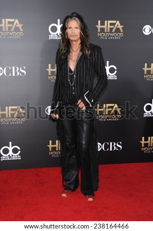 LOS ANGELES - NOV 14:  Steven Tyler arrives to the The Hollywood Film Awards 2014 on November 14, 2014 in Hollywood, CA                 - stock photo