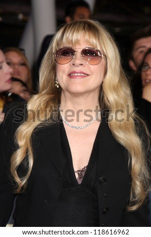 "LOS ANGELES - NOV 12:  Stevie Nicks arrive to the 'The Twilight Saga: Breaking Dawn - Part 2"" Premiere at Nokia Theater on November 12, 2012 in Los Angeles, CA"