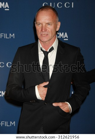 LOS ANGELES - NOV 2:  Sting arrives at the LACMA 2013 Art and Film Gala  on November 2, 2013 in Los Angeles, CA