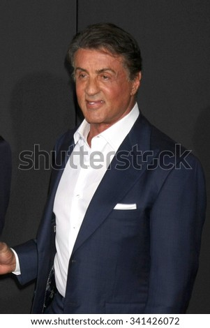 """LOS ANGELES - NOV 19:  Sylvester Stallone at the """"Creed"""" Los Angeles Premiere at the Village Theater on November 19, 2015 in Westwood, CA - stock photo"""