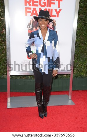 """LOS ANGELES - NOV 12:  Tichina Arnold at the """"Love the Coopers"""" Los Angeles Premiere at the The Grove on November 12, 2015 in Los Angeles, CA - stock photo"""