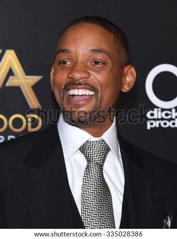 LOS ANGELES - NOV 1:  Will Smith arrives to the Hollywood Film Awards 2015 on November 1, 2015 in Hollywood, CA.                 - stock photo
