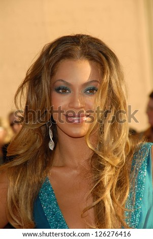 LOS ANGELES - NOVEMBER 21: Beyonce Knowles at the 34th Annual American Music Awards at Shrine Auditorium November 21, 2006 in Los Angeles, CA - stock photo