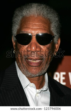 "LOS ANGELES - NOVEMBER 27: Morgan Freeman at the premiere of ""10 Items Or Less"" at Paramount Theater on November 27, 2006 in Los Angeles, CA"