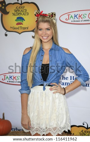 LOS ANGELES - OCT 21: Allie Deberry at the Camp Ronald McDonald for Good Times 20th Annual Halloween Carnival at the Universal Studios Backlot on October 21, 2012 in Los Angeles, California - stock photo