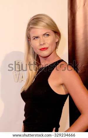 """LOS ANGELES- OCT 17: Amy Waller arrives at the """"Death Valley"""" film premiere Oct. 17, 2015 at Raleigh Studios in Los Angeles, CA. - stock photo"""