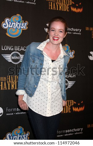 LOS ANGELES - OCT 7:  Ana Lucasey arrives at the 4th Annual Los Angeles Haunted Hayride VIP Premiere Night at Griffith Park on October 7, 2012 in Los Angeles, CA
