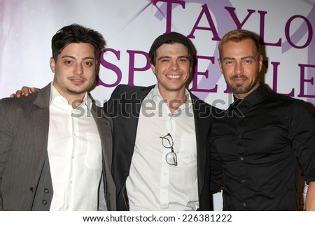 LOS ANGELES - OCT 25:  Andrew Larwrence, Joey Lawrence, Matthew Lawrence at the Taylor Spreitler's 21st Birthday Party at the CBS Radford Studios on October 25, 2014 in Studio City, CA - stock photo