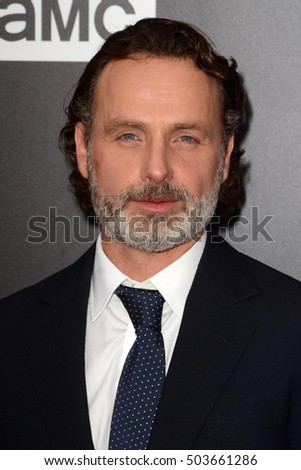 "LOS ANGELES - OCT 23:  Andrew Lincoln at the AMC's Special Edition of ""Talking Dead"" at Hollywood Forever Cemetary on October 23, 2016 in Los Angeles, CA"
