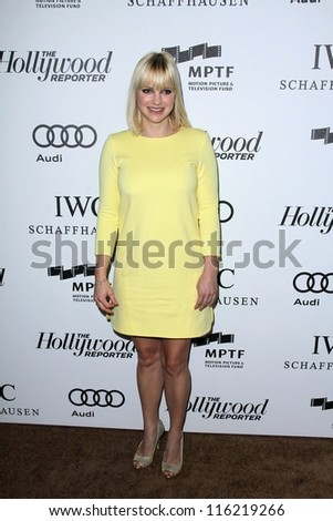"""LOS ANGELES - OCT 20:  Anna Faris arrives at  the """"Reel Stories, Real Lives"""" Event at Milk Studios on October 20, 2012 in Los Angeles, CA - stock photo"""