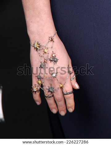 """LOS ANGELES - OCT 26:  Anne Hathaway at the """"Interstellar"""" Premiere at the TCL Chinese Theater on October 26, 2014 in Los Angeles, CA - stock photo"""