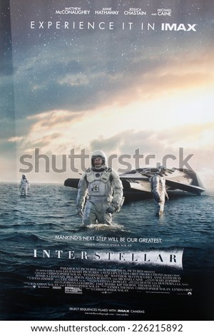 "LOS ANGELES - OCT 26:  Atmosphere at the ""Interstellar"" Premiere at the TCL Chinese Theater on October 26, 2014 in Los Angeles, CA - stock photo"
