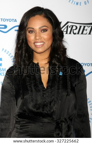 LOS ANGELES - OCT 8:  Ayesha Curry at the Autism Speaks Celebrity Chef Gala at the Barker Hanger on October 8, 2015 in Santa Monica, CA - stock photo