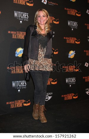 LOS ANGELES - OCT 10:  Barbara Alyn Woods at the 8th Annual LA Haunted Hayride Premiere Night at Griffith Park on October 10, 2013 in Los Angeles, CA