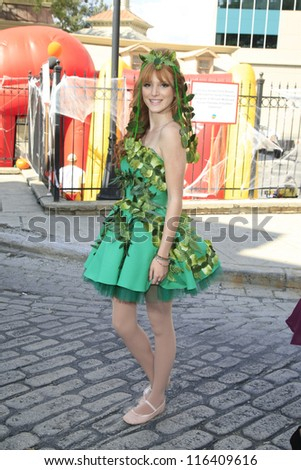 LOS ANGELES - OCT 21: Bella Thorne at the Camp Ronald McDonald for Good Times 20th Annual Halloween Carnival at the Universal Studios Backlot on October 21, 2012 in Los Angeles, California - stock photo