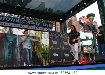 "LOS ANGELES - OCT 17:  Cameron Boyce, Booboo Stewart at the Stars of ""Descendants"" Personal Appearance at the Downtown Disney on October 17, 2015 in Anaheim, CA"