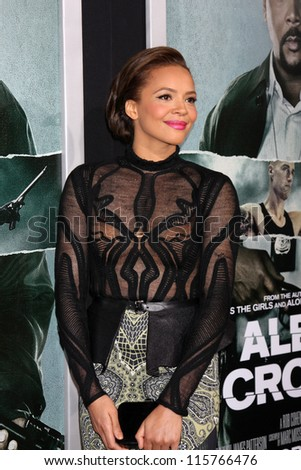 "LOS ANGELES - OCT 15:  Carmen Ejogo arrives at the ""Alex Cross"" Premiere at ArcLight Cinemas Cinerama Dome on October 15, 2012 in Los Angeles, CA"