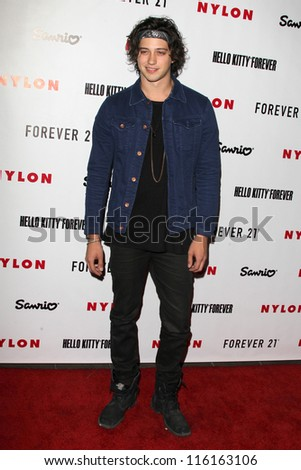 LOS ANGELES - OCT 15:  Chris Galya arrives at  Nylon's October IT Issue party at London West Hollywood on October 15, 2012 in Los Angeles, CA - stock photo