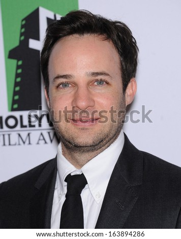 LOS ANGELES - OCT 21:  Danny Strong arrives to Hollywood Film Awards Gala 2013  on October 21, 2013 in Beverly Hills, CA                 - stock photo