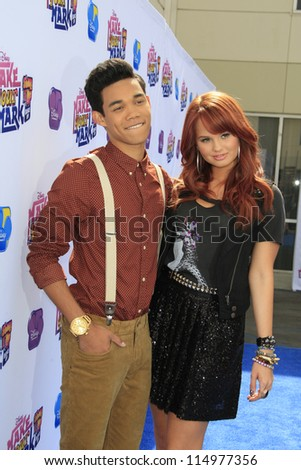 LOS ANGELES - OCT 6: Debby Ryan, Roshon Fegan at the 'Make Your Mark: Shake It Up Dance Off 2012' at LA Center Studios on October 6, 2012 in Los Angeles, California