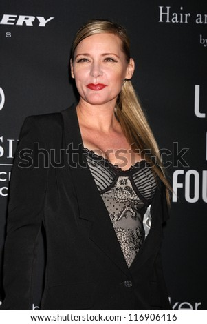 "LOS ANGELES - OCT 26:  DeeDee Pfeiffer arrives at ""The Pink Party '12"" at Hanger 8 on October 26, 2012 in Santa Monica, CA - stock photo"