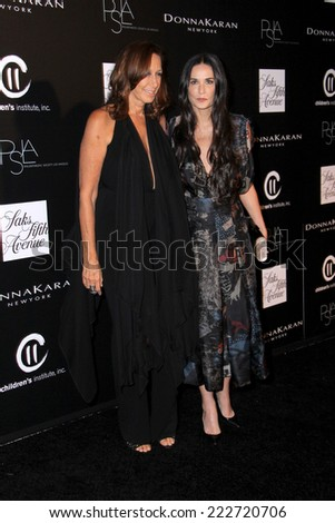 LOS ANGELES - OCT 8:  Donna Karan, Demi Moore at the 5th Annual PSLA Autumn Party at 3LABS on October 8, 2014 in Culver City, CA - stock photo