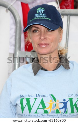 "LOS ANGELES - OCT 16:  Eileen Davidson at the Habitat for Humanity San Fernando/Santa Clarita Valley's ""American Dream Walk""  at Pacoima Plaza on October 16, 2010 in Pacoima, CA - stock photo"