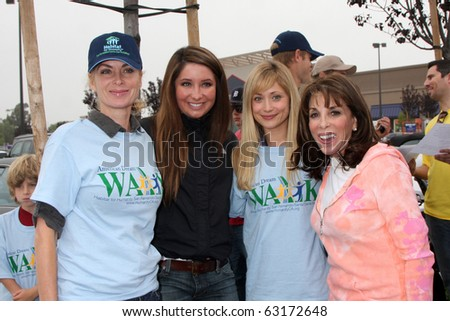 "LOS ANGELES - OCT 16:  Eileen Davidson, Bristol Palin, Marcy Rylan, Kate Linder at the Habitat for Humanity ""American Dream Walk""  at Pacoima Plaza on October 16, 2010 in Pacoima, CA - stock photo"