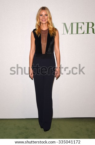 "LOS ANGELES - OCT 13:  Gwyneth Paltrow arrives to the La Mer ""Celebration of an Icon"" Global Event on October 13, 2015 in Hollywood, CA.                 - stock photo"