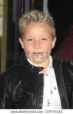 """LOS ANGELES - OCT 23: Jackson Nicoll at the Premiere of """"Jackass Presents: Bad Grandpa"""" at the TCL Chinese Theater on October 23, 2013 in Los Angeles, California - stock photo"""