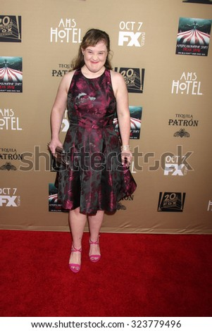 "LOS ANGELES - OCT 3:  Jamie Brewer at the ""American Horror Story: Hotel"" Premiere Screening at the Regal 14 Theaters on October 3, 2015 in Los Angeles, CA"
