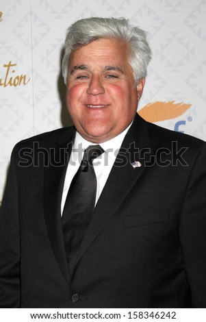 LOS ANGELES - OCT 13:  Jay Leno at the 10th Alfred Mann Foundation Gala at Robinson-May Lot on October 13, 2013 in Beverly Hills, CA - stock photo