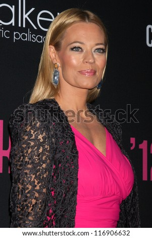 "LOS ANGELES - OCT 26:  Jeri Ryan arrives at ""The Pink Party '12"" at Hanger 8 on October 26, 2012 in Santa Monica, CA - stock photo"
