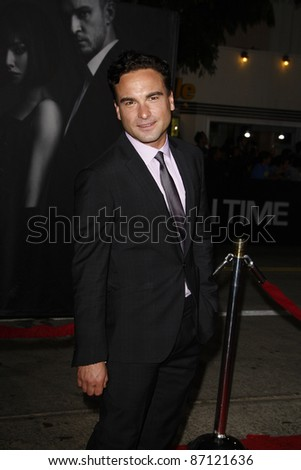 LOS ANGELES - OCT 20: Johnny Galecki at the 'In Time' Premiere at the Regency Village Theatre on October 20, 2011 in  in Los Angeles, California