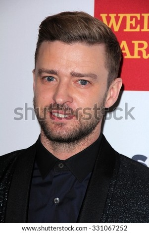 LOS ANGELES - OCT 23:  Justin Timberlake at the 2015 GLSEN Respect Awards at the Beverly Wilshire Hotel on October 23, 2015 in Beverly Hills, CA - stock photo