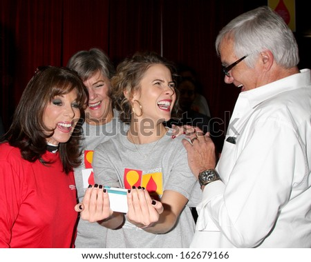 LOS ANGELES - OCT 6: Kate Linder, Char Griggs, Linsey Godfrey, John McCook at the Light The Night The Walk to benefit LLS at Sunset-Gower Studios on October 6, 2013 in Los Angeles, CA
