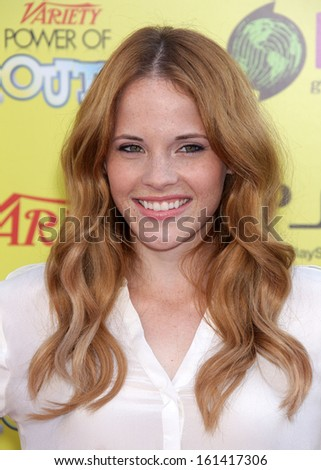 LOS ANGELES - OCT 21:  Katie Leclerc arrives to the Variety's Power of Youth  on October 21, 2011 in Hollywood, CA                 - stock photo